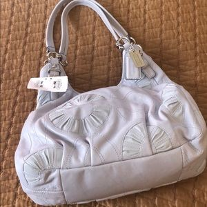 COACH MAGGIE BAG BLUE WITH C PATTERN AUTHENTIC NWT